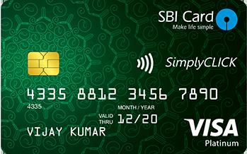SimplyClick SBI Card