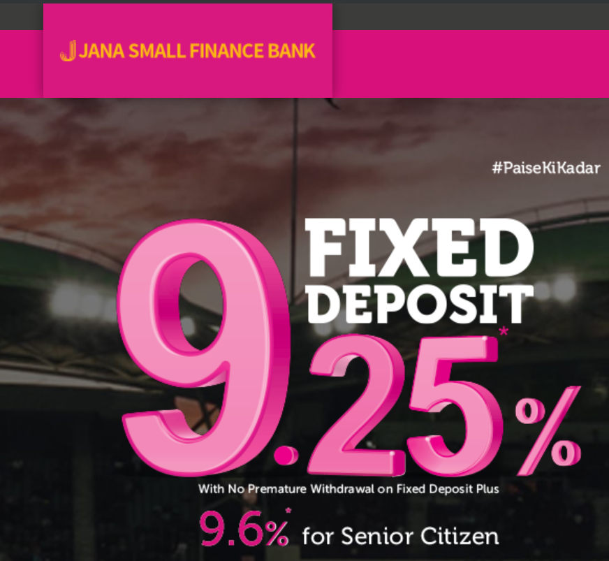 Jana Bank Fixed Deposit